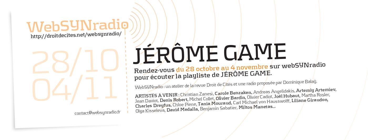 Playlist Jérôme Game websynradio